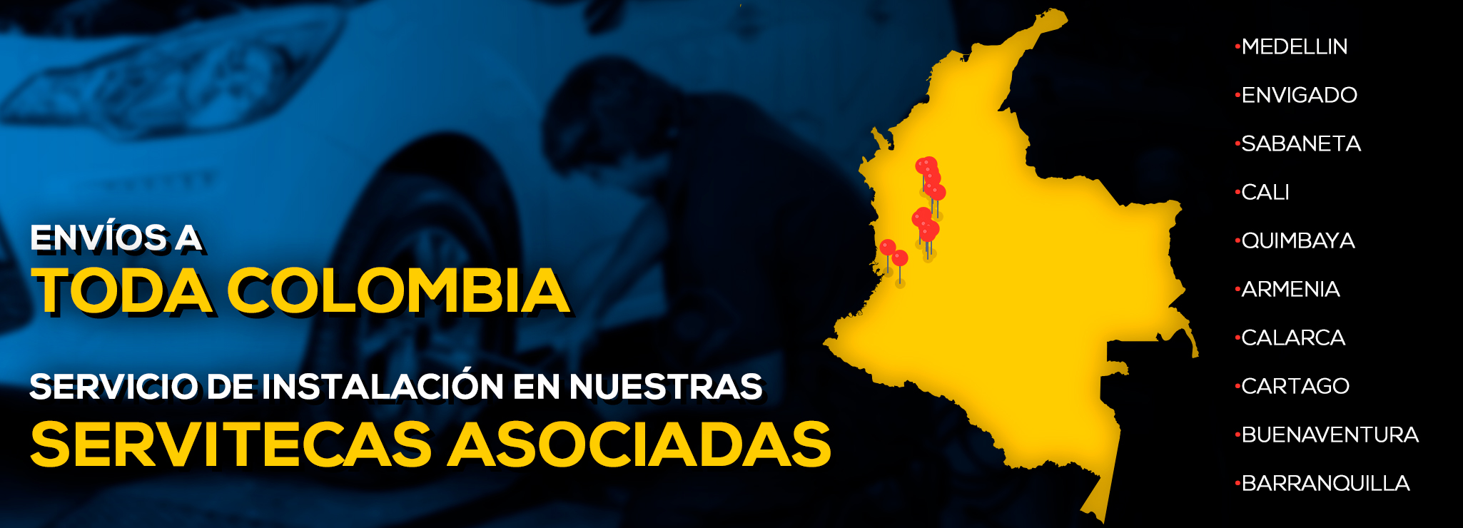 Enviamos a toda Colombia